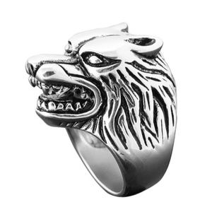 Other - Werewolf Biker Wolf Ring Full Moon Punk Retro Goth